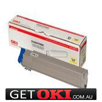 Yellow Toner Genuine to suit OKI C9600 C9650 C9800 C9850 15,000 Pages (42918917)