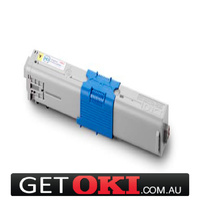 Yellow Toner Genuine OKI C310 C330 C331 MC361DN MC362DN 2,000 Pages (44469755)