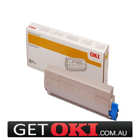 Cyan Toner Genuine to suit OKI MC862 10,000 Pages (44643027)