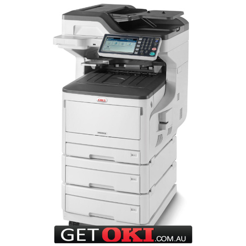 OKI MC853dnx A3 Colour MFP w 3 Paper Trays & Castor Base (45850406dnx)